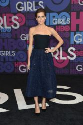 Allison Williams wears Monique L'huillier -