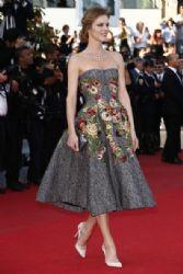 Eva Herzigova wears Dolce & Gabbana - 'Two Days, One Night' 2014 Cannes Film Festival Premiere