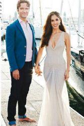 Sandra Echeverría and Leonardo De Lozanne: wedding look