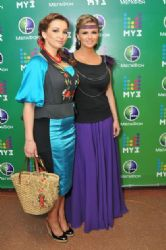 Anna Semenovich & Anfisa Chekhova at Muz-TV Music Awards 2011