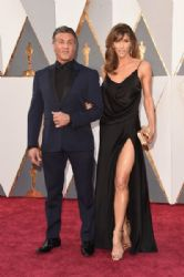 Sylvester Stallone and Jennifer Flavin: 88th Annual Academy Awards - Arrivals