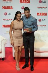 Georgina Rodriguez and Cristiano Ronaldo: 2019 Marca Legend Award in Madrid 07/29/2019