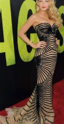 Blake Lively: at the premiere of her new film, Savages, held at the Mann Village Theatre in Westwood