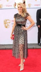 Tess Daly  wears Bruce Oldfield - British Bafta Awards 2014