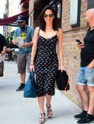 Olivia Munn in HVN dress : at Her Hotel in Tribeca, New York