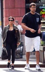 Kim Kardashian With Kris Humphries: Spotted making their way around New York City