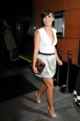 Frankie Sandford: at Amika club at mayfair London