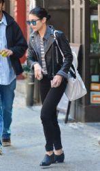 Vanessa Hudgens: leaves her apartment in New York City