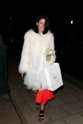 Liberty Ross: leaving the Dior party at Harry's Ba in London