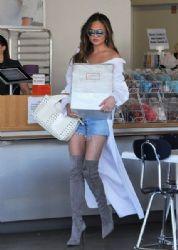 Chrissy Teigen spotted leaving Cakemix in Los Angeles, California