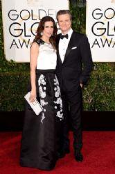 Livia Giuggioli and Colin Firth: 72nd Annual Golden Globe Awards 2015- Arrivals