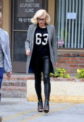 Gwen Stefani is seen in Los Angeles