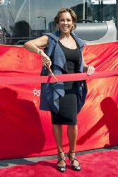 Vanessa Williams: at the ribbon-cutting ceremony for Gray Line at Pier 78 in New York City