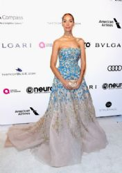 Leona Lewis in Tony Ward Dress : 25th Annual Elton John AIDS Foundation's Oscar Viewing Party