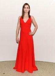 Emily Blunt wears a red Dior at 2015 Guggenheim International Gala Dinner