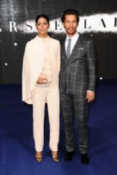 Matthew McConaughey and Camila Alves attend the European premiere of