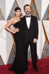 Sarah Silverman and Michael Sheen: 88th Annual Academy Awards - Arrivals