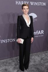 Scarlett Johansson  wears Versace Tuxedo : 19th Annual amfAR New York Gala