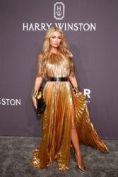 Paris Hilton wears Maria Lucia Hohan Dress : 19th Annual amfAR New York Gala