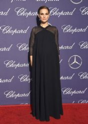 Natalie Portman wears  Christian Dior Maxi Dress : 28th Annual Palm Springs International Film Festival