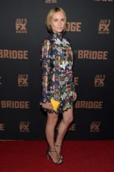 Diane Kruger wears Mary Katrantzou - FX's The Bridge premiere