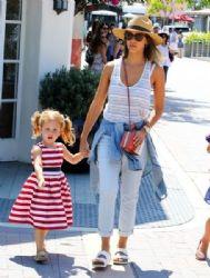 Jessica Alba and Family Spend Time in Malibu