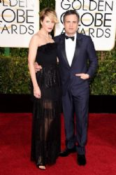 Sunrise Coigney and Mark Ruffalo: 72nd Annual Golden Globe Awards 2015- Arrivals