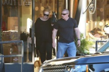 Adele: out and about in West Hollywood