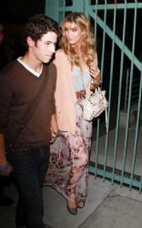 Nick Jonas and Delta Goodrem: Spotted at the Adele concert in Los Angeles
