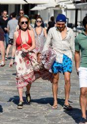 Lindsay Lohan and Egor Tarabasov: Mykonos island look