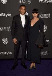 Cory Hardrict and Tia Mowry: InStyle And Warner Bros. Golden Globes 2015 Party