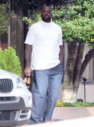 Shaquille O'Neal Leaving His Hotel In Atlanta