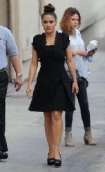 Salma Hayek is seen arriving at 'Jimmy Kimmel Live'