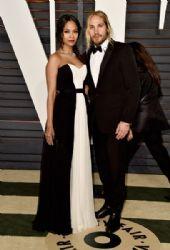 Zoe Saldana and Marco Perego: Elton John AIDS Foundation Oscars 2015 Viewing Party
