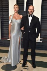 Rosie Huntington-Whiteley and Jason Statham: 2017 Vanity Fair Oscar Party Hosted By Graydon Carter - Arrivals
