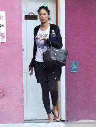 Kimora Lee Simmons: leaving a nail salon in Studio City