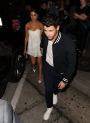 Olivia Culpo and Nick Jonas: Celebrities Dine Out at Craig's Restaurant
