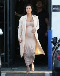 Kim Kardashian is seen leaving a production office in Van Nuys