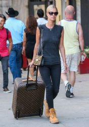 Nicky Hilton is seen returning to her apartment in New York City, New York