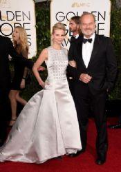 Kayte Walsh and Kelsey Grammer: 72nd Annual Golden Globe Awards 2015- Arrivals