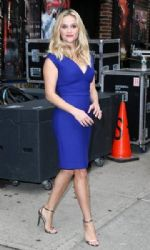 Reese Witherspoon: making an appearance on the 'Late Show With David Letterman' in New York City