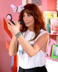 Lorena Rojas: on the set