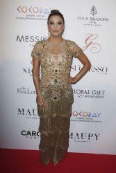 Eva Longoria in Marchesa Dress : Global Gift Gala