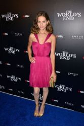 Lyndsy Fonseca wears Maria Lucia Hohan - IGN And Focuses Features Comic-Con 2013 Party