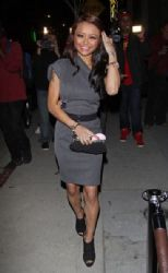 Tila Tequila: leaving the Star Magazine party in Hollywood