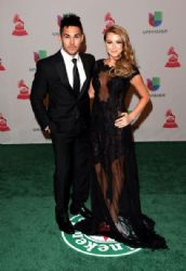 Alexa PenaVega and Carlos PenaVega: Green Carpet Arrivals at the Latin Grammy Awards 2014