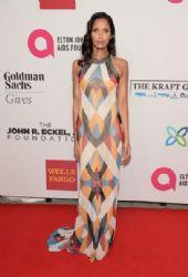 Padma Lakshmi wears Naeem Khan - Elton John AIDS Foundation's 13th Annual An Enduring Vision