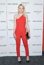 Dakota Fanning attends the 'Night Moves' premiere at Sunshine Landmark