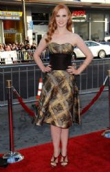 Deborah Ann Woll wears Carolina Herrera - HBO's 'True Blood' Final Season Premiere