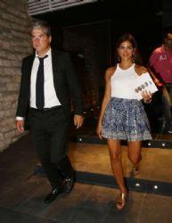 Stamatina Tsimtsili and Themis Sofos: night out